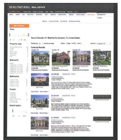 WSJ Advertising Houston Homes