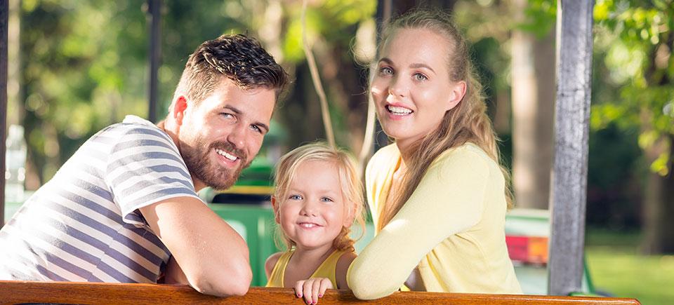 Smiling Family Buying New Houston Home