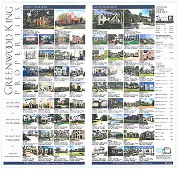 Houston Home Sale Advertising - Print Ads