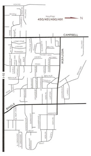 Map of Spring Valley area - Houston real estate and homes area